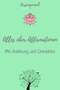 Alles über Affirmationen-Pinterest