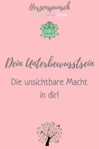 Dein Unterbewusstsein - die unsichtbare Macht in dir-Pinterest