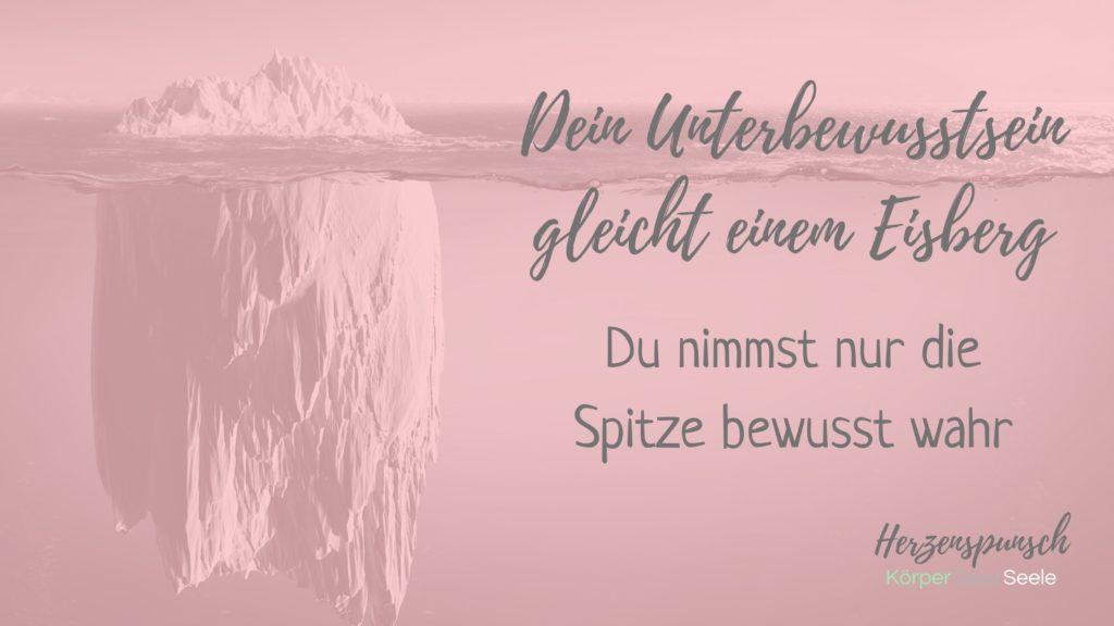 Dein Unterbewusstsein gleicht einem Eisberg