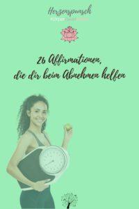 Affirmationen zum Abnehmen Wunschgewicht-Pinterest